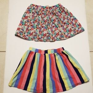 Carters 2 skirts with shorts underneath